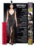Содержание Журнала «Индустрия Моды» № 3 (34) 2009 (лето)