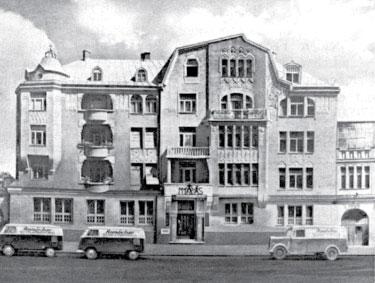 Здание «Профессиональной школы М.Мюллера и сына» и излательства Rundshau в Мюнхене на Омштрассе, 15