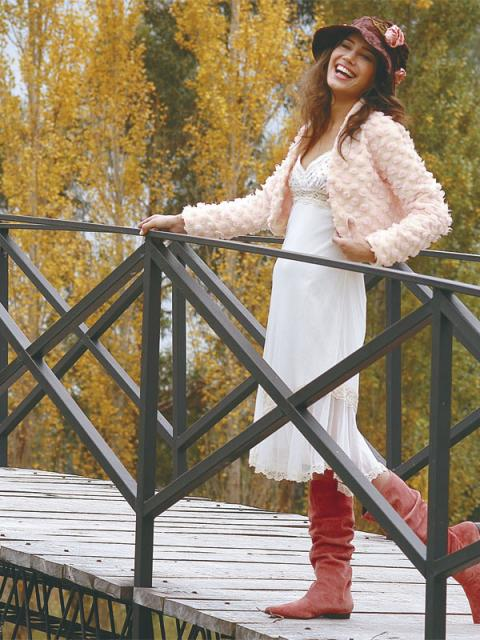 Журнал «Шитье и крой» (ШиК) № 01/2006. Модель 6. Платье. Модель 7. Болеро.