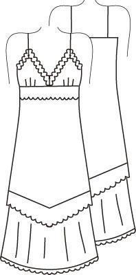Журнал «Шитье и крой» (ШиК) № 01/2006. Модель 6. Платье.