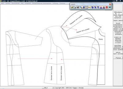 Илл. 04. Модельная конструкция платья