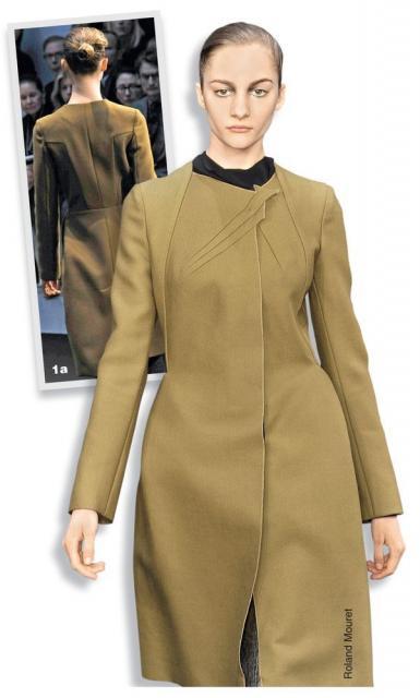 Илл. 01. Модель пальто Roland Mouret