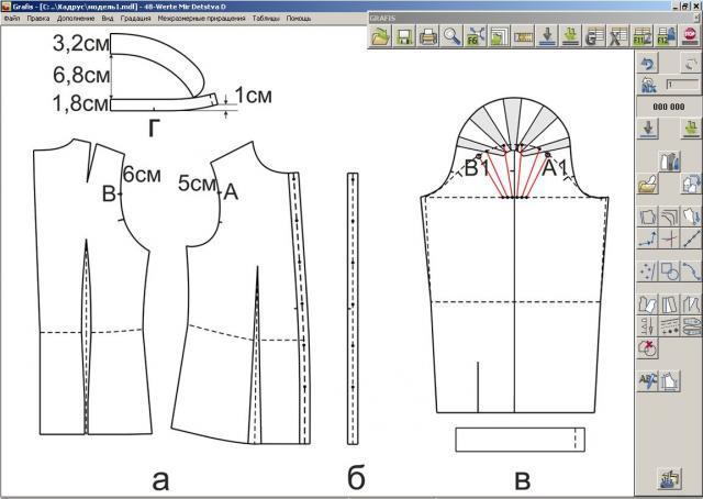 Илл. 03. Модельная конструкция блузки (Журнал «Ателье» № 08/2013 (август))