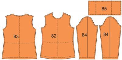 Раскладка лекал водолазки: Расход ткани: 1 м при ширине 140 см