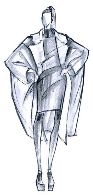 Женское пальто: глянец против ворса. Большие объемы