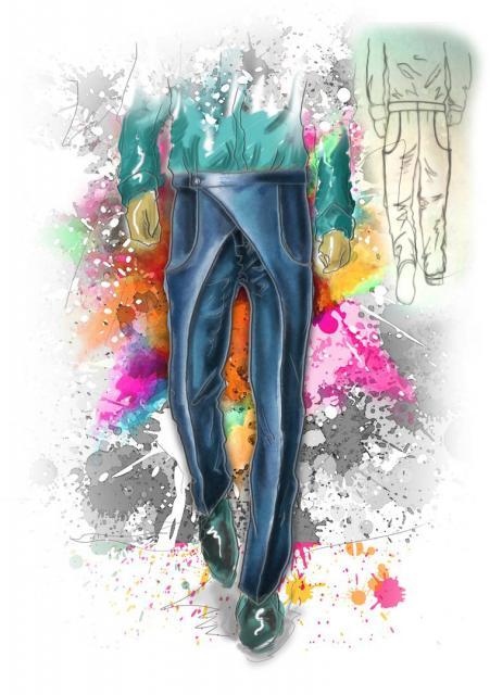 Илл. 01. Мужские брюки с запа́хом