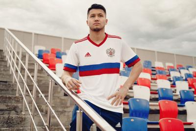 Гостевая форма для сборной России по футболу Adidas
