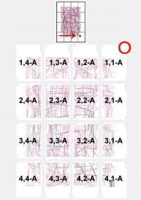 Обзорная страница со схемой расположения листов выкройки