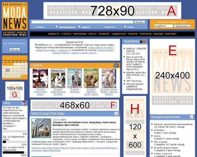 Медиакит - ModaNews.ru - интернет-портал индустрии моды.