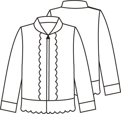 Журнал «Шитье и крой» (ШиК) № 02/2006. Модель 7. Куртка. Эскиз.