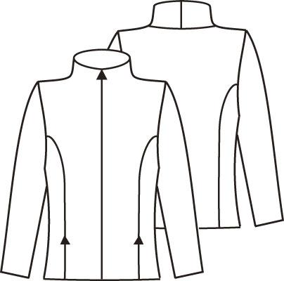 Журнал «Шитье и крой» (ШиК) № 03/2006. Модель 3. Куртка. Эскиз.