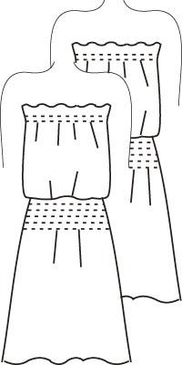 Журнал «Шитье и крой» (ШиК) № 09/2006. Модель 1. Платье. Эскиз.